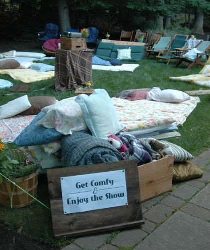 """Outdoor Beach Party Ideas  My 3 Monsters """"Sweet 16"""" Beach Bash Outdoor Movie Night"""