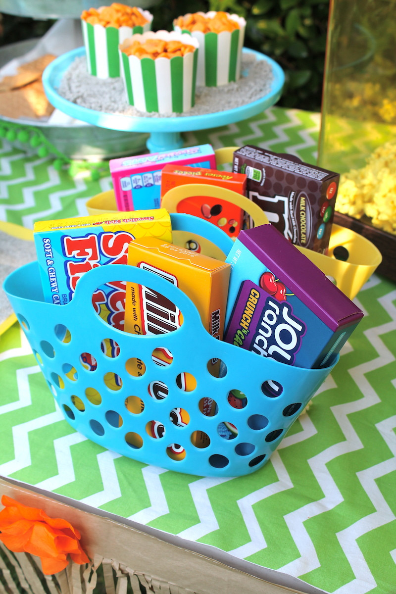 Outdoor Beach Party Ideas  LAURA S little PARTY Outdoor Movie Night