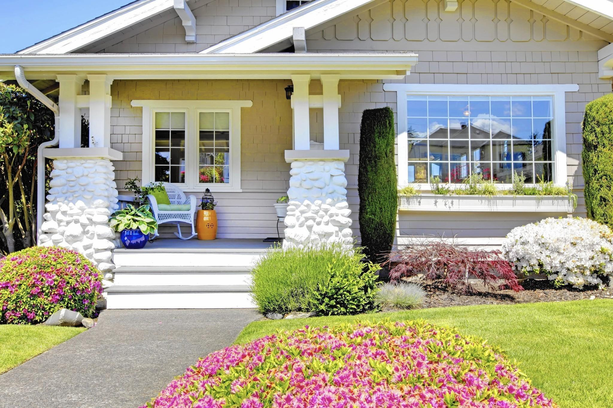 Outdoor Landscape Curb Appeal  Curb appeal Reconsider landscaping in front yard
