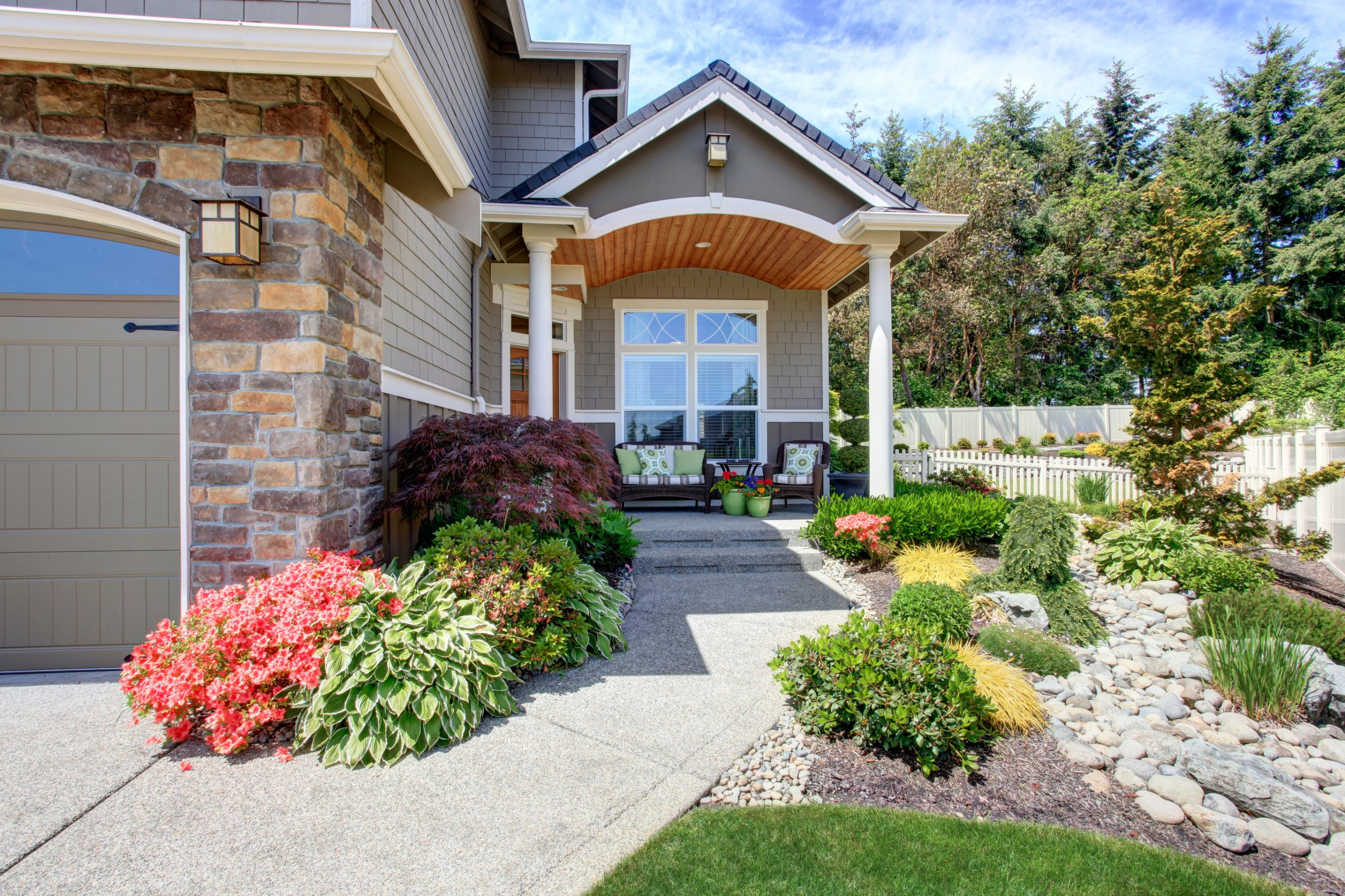 Outdoor Landscape Curb Appeal  Curb Appeal Landscaping Garrison s Landscaping