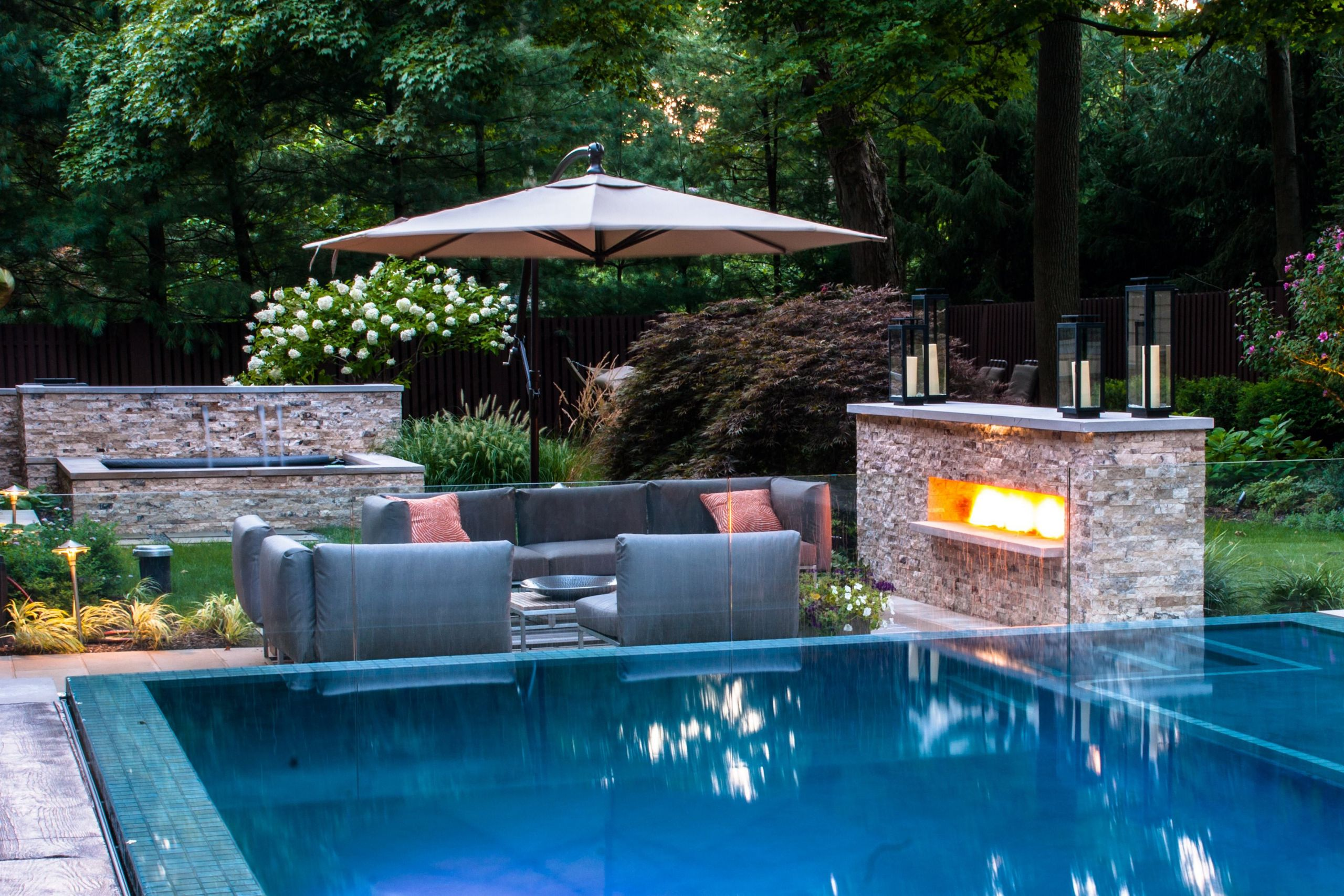 Outdoor Landscape Pool  Bergen County NJ Pool & Landscaping Ideas Wins pany Awards
