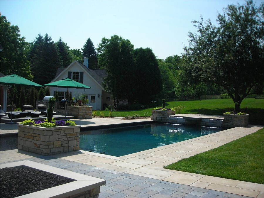 Outdoor Landscape Pool  Swimming Pool Design Ideas Landscaping Network