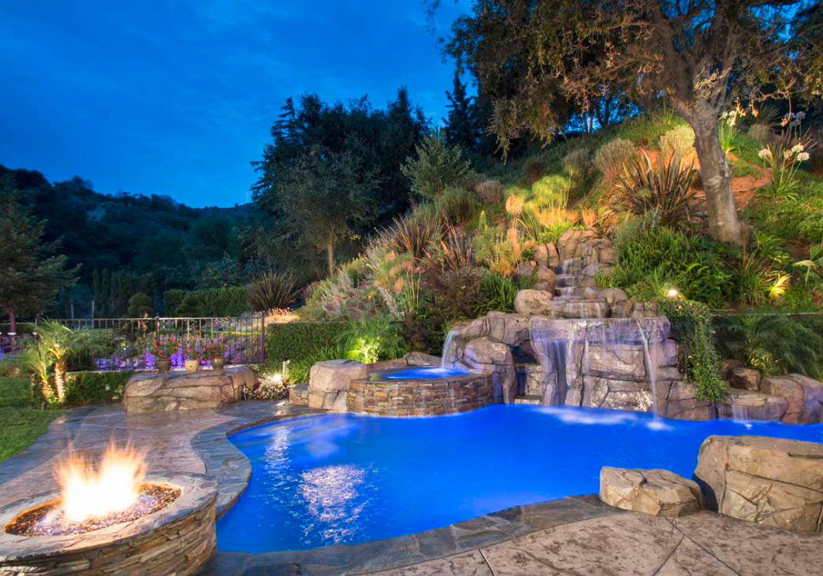 Outdoor Landscape Pool  What are the Different Pool Landscape Ideas Residence Style