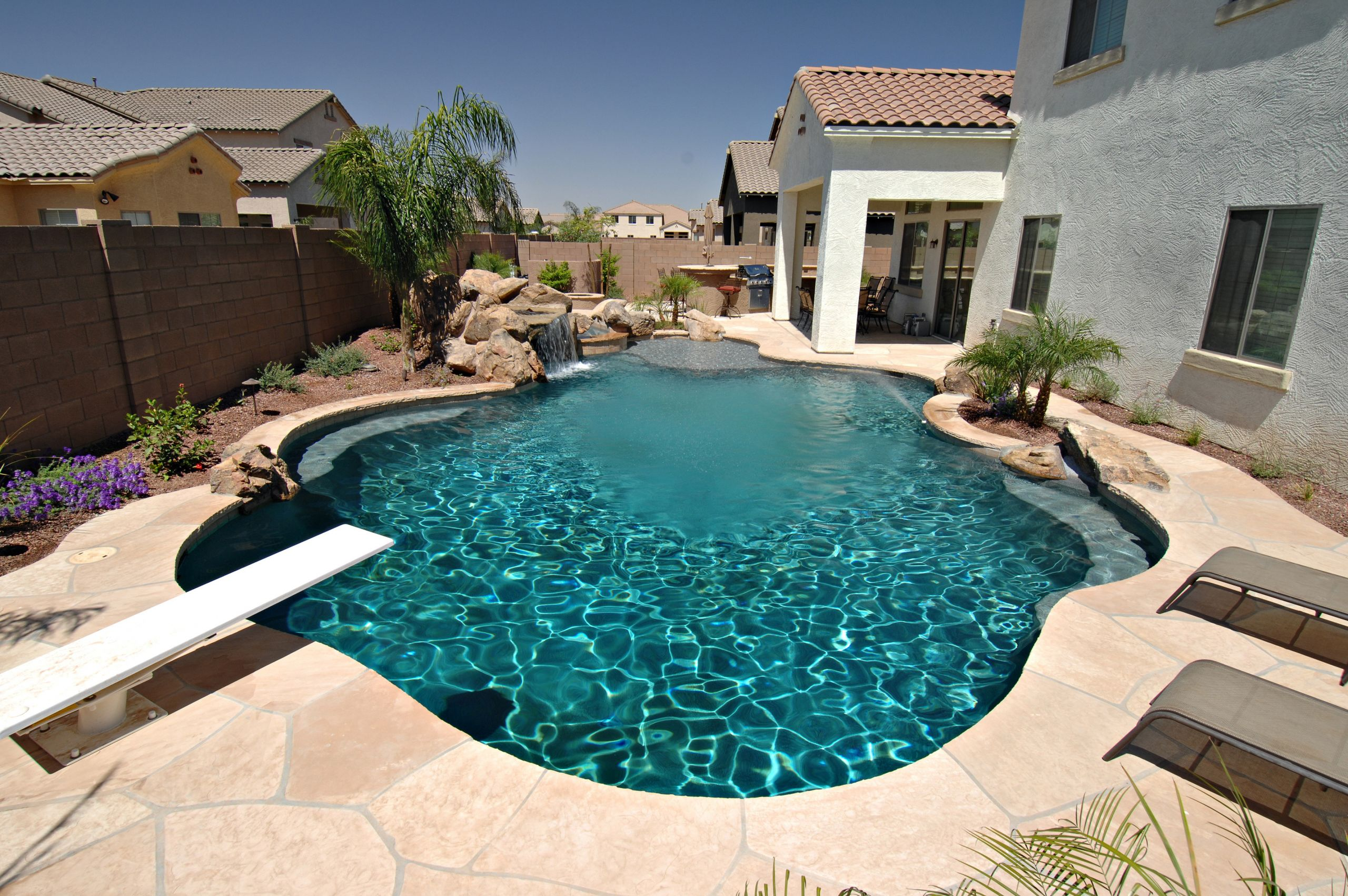 Outdoor Landscape Pool  Backyard Landscaping Ideas Swimming Pool Design