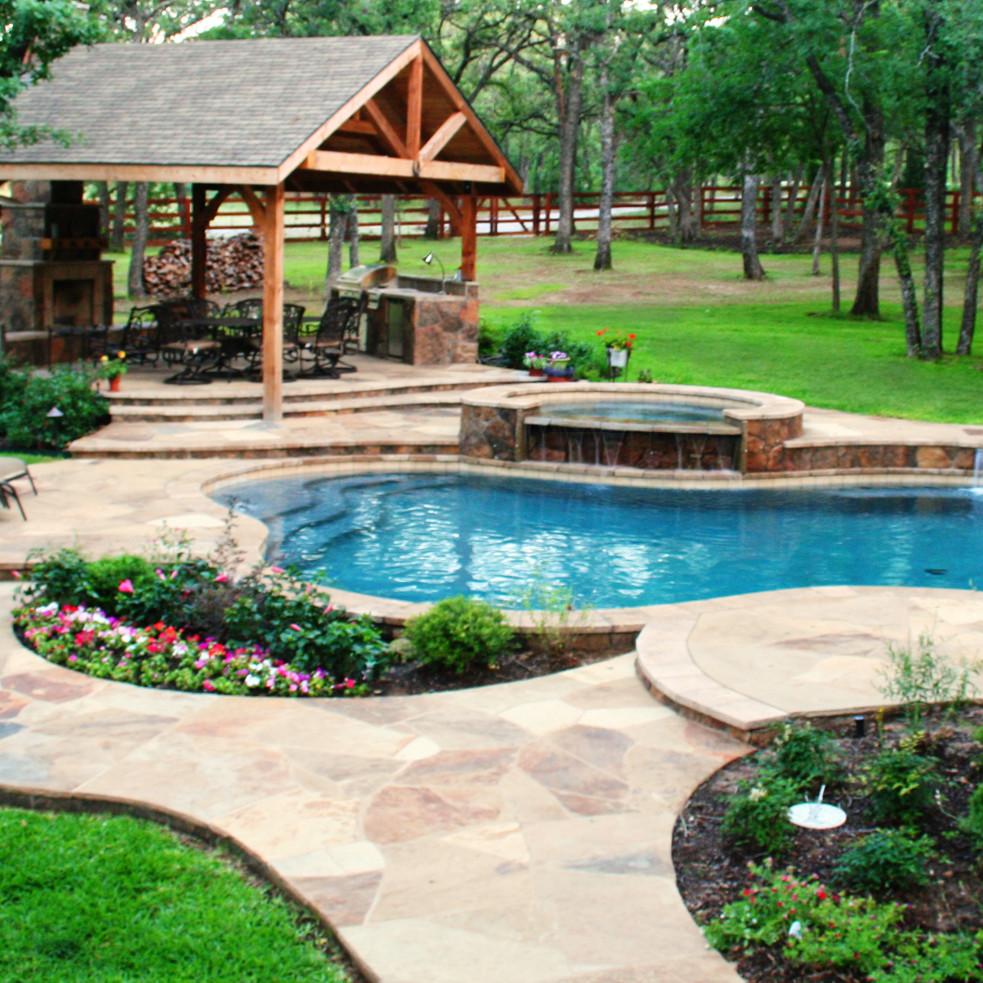 Outdoor Landscape Pool  Poolside Landscaping Gohlke Pools