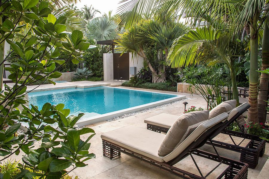 Outdoor Landscape Pool  25 Spectacular Tropical Pool Landscaping Ideas
