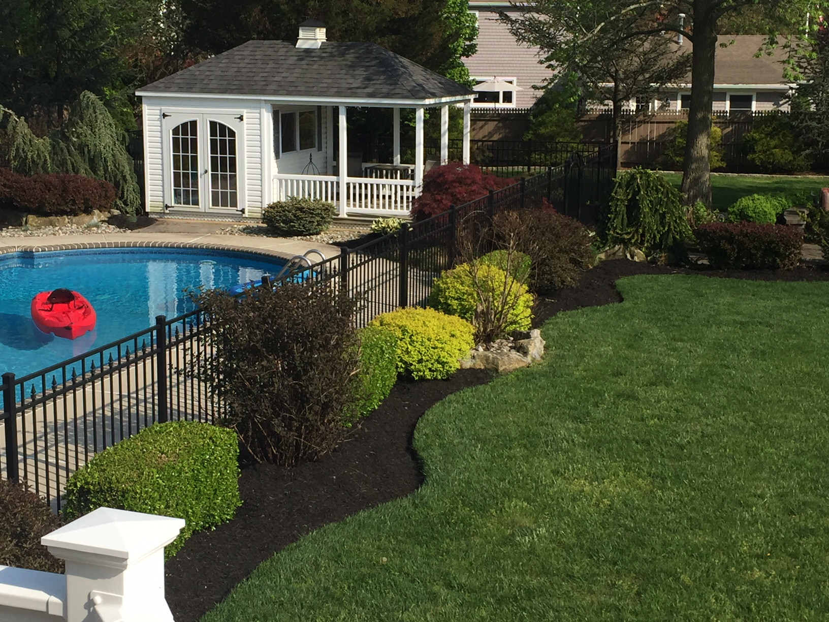 Outdoor Landscape Pool  Refreshing a Swimming Pool Landscape All About The House