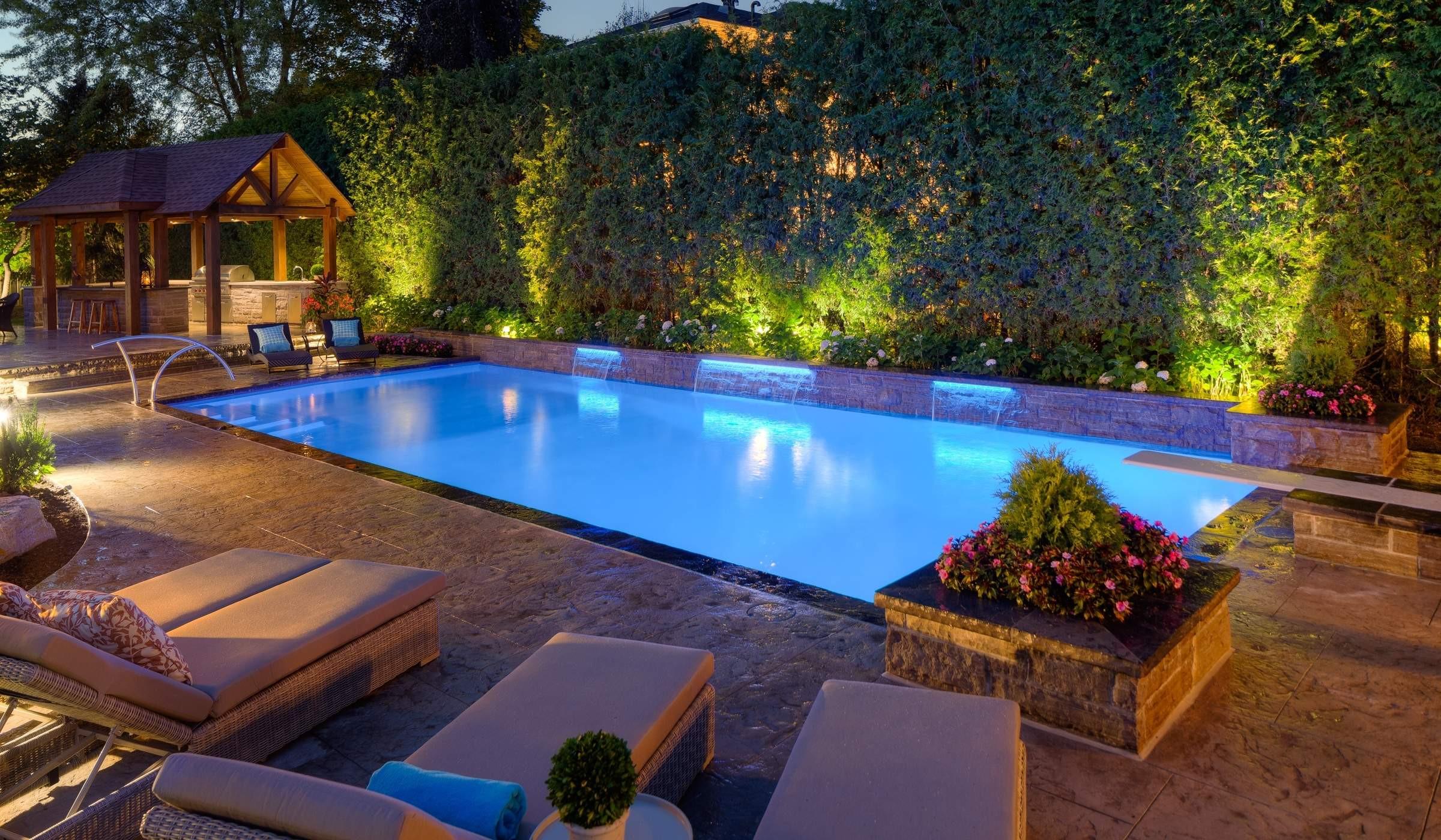 Outdoor Landscape Pool  Landscape & Pool Lighting Betz Pools