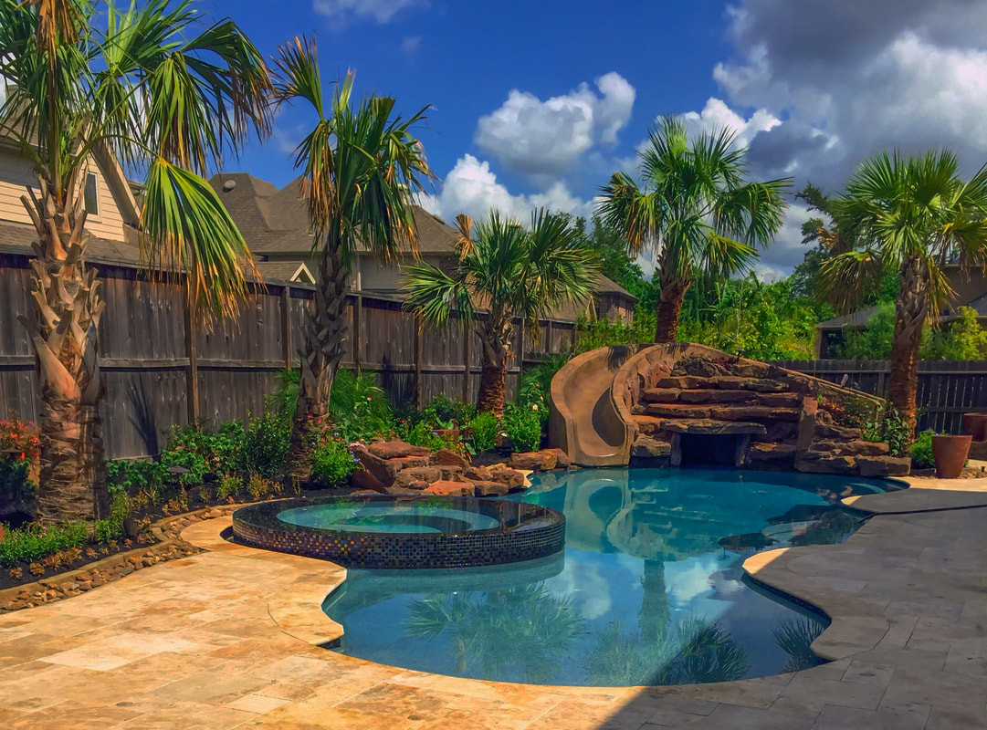Outdoor Landscape Pool  Houston Pool and Yard Landscaping Ideas Outdoor Perfection