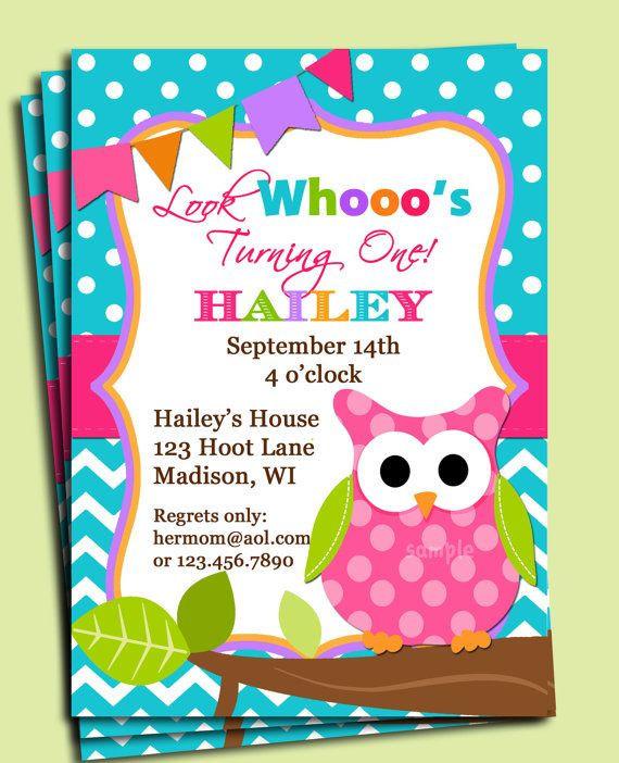 Owl 1st Birthday Invitations  The top 25 Ideas About Owl 1st Birthday Invitations
