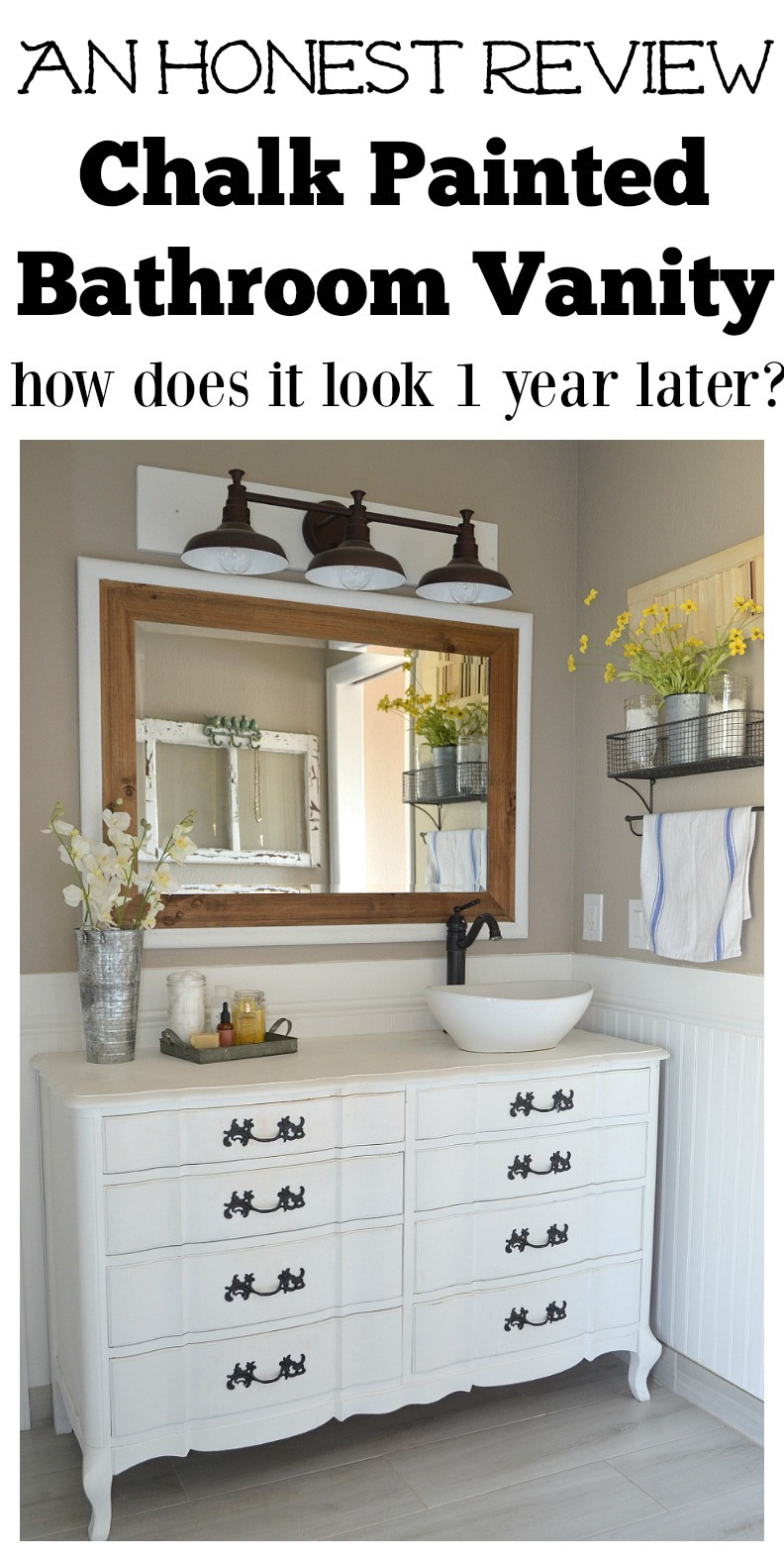 Paint To Use In Bathroom  Honest Review of My Chalk Painted Bathroom Vanities