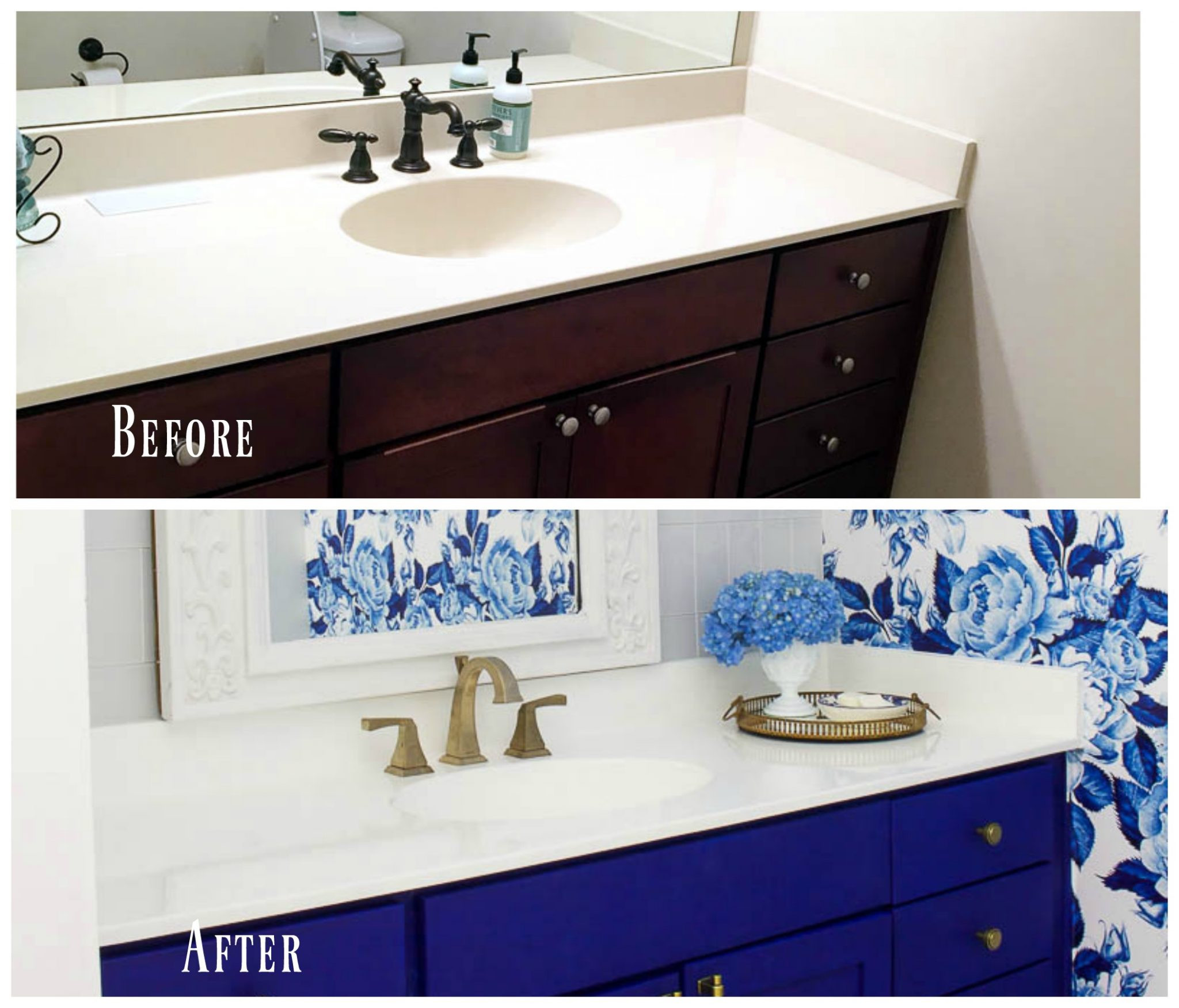 Paint To Use In Bathroom  DIY Painted Bathroom Countertop and Sink 2 Bees in a Pod