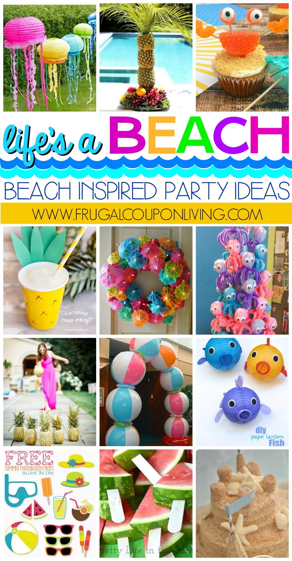 Party On The Beach Ideas  Beach Inspired Party Ideas