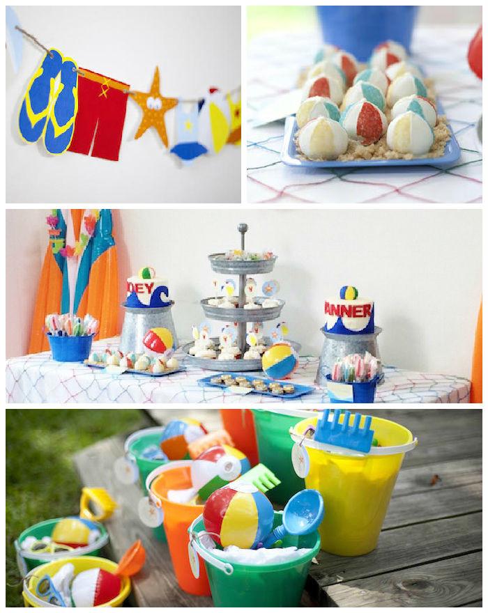 Party On The Beach Ideas  Kara s Party Ideas Beach Bash Birthday Party