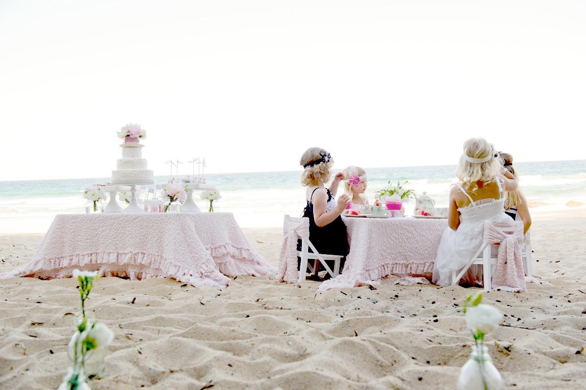Party On The Beach Ideas  Kara s Party Ideas High Tea The Beach Party
