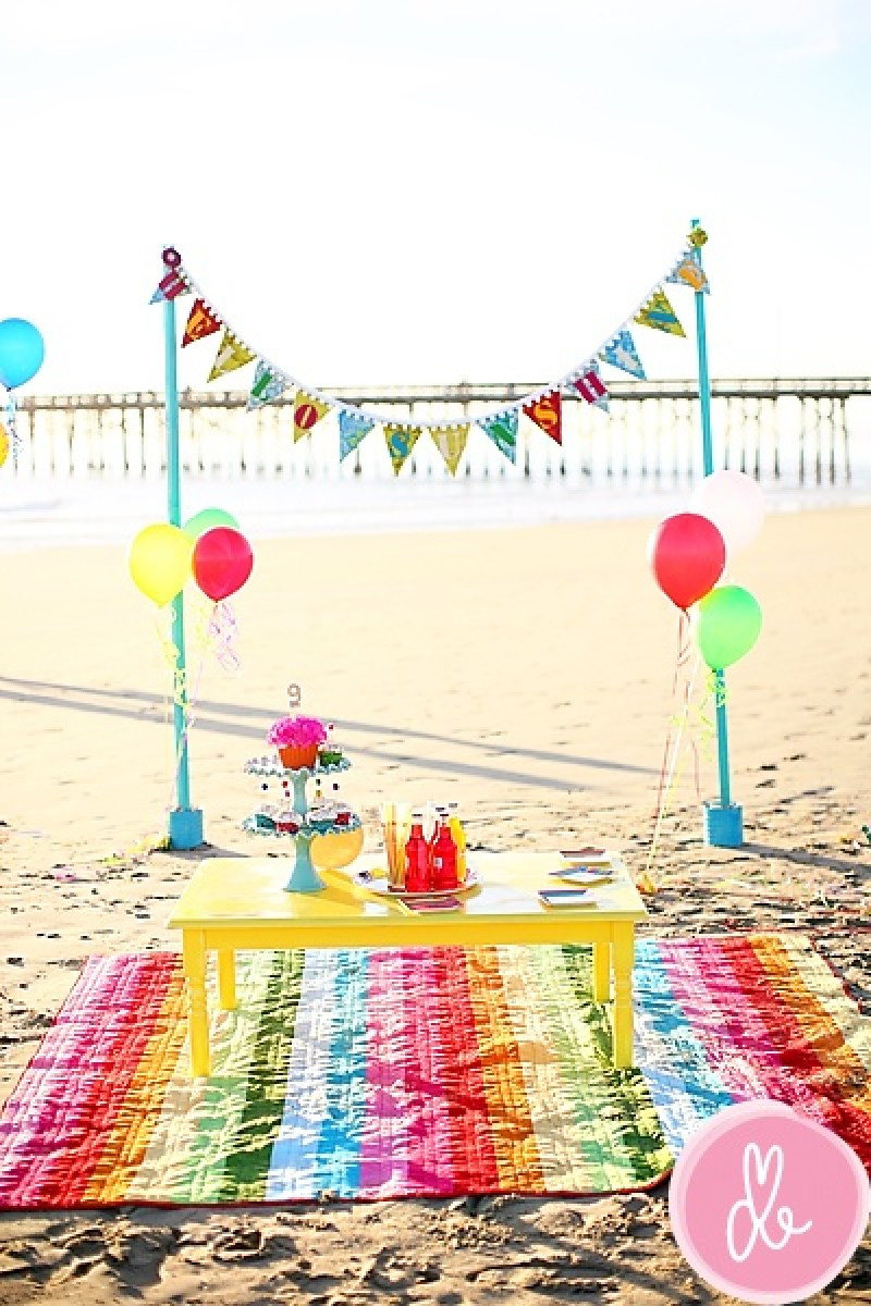 Party On The Beach Ideas  Summer Party Decoration Ideas We Love on Love the Day