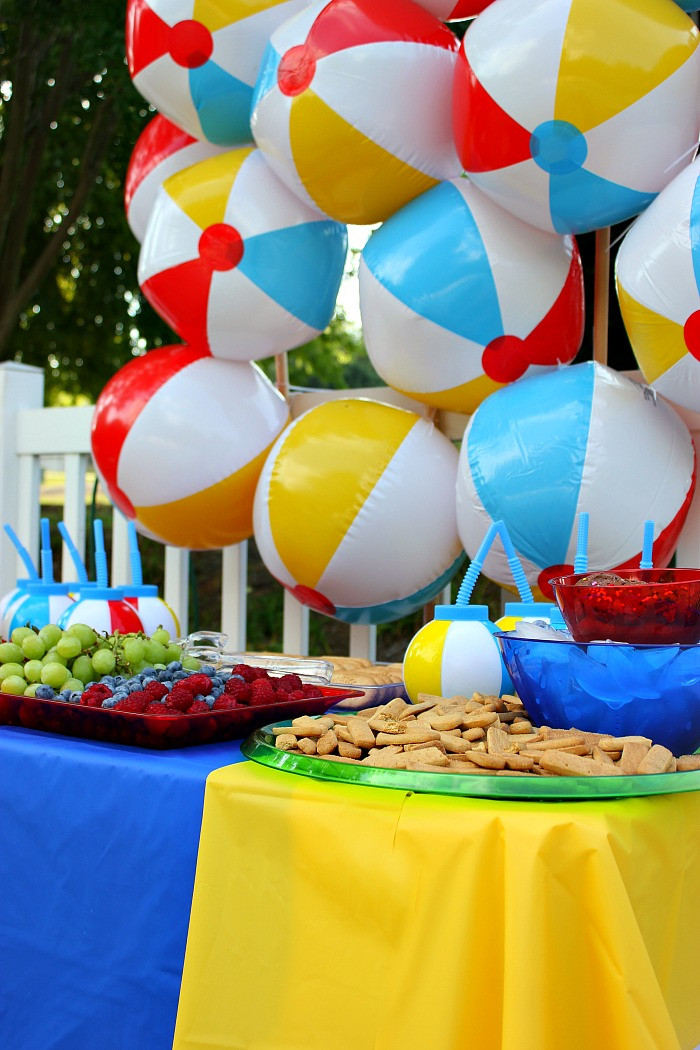 Party On The Beach Ideas  The Creative Collection Link Party