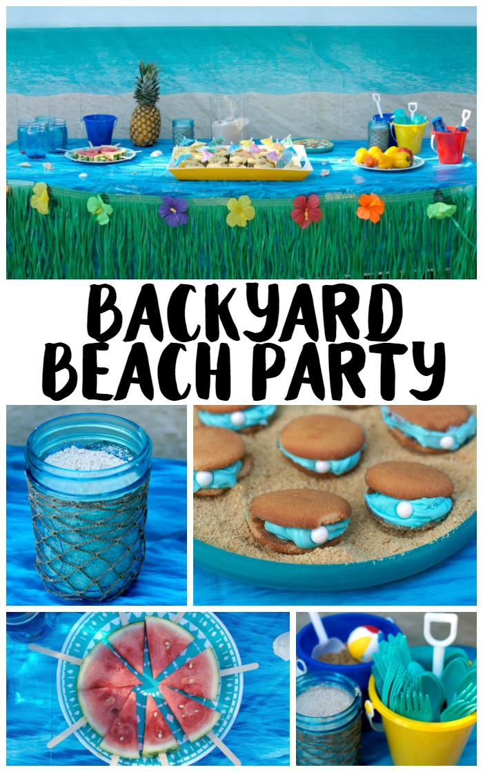 Party On The Beach Ideas  Backyard Beach Party Ideas Not Quite Susie Homemaker