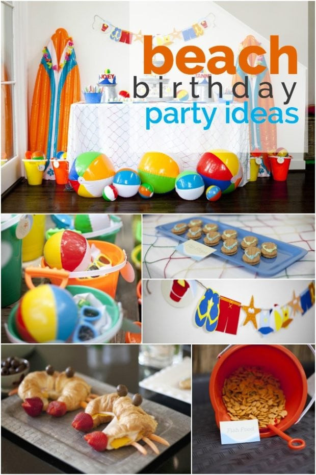 Party On The Beach Ideas  A Boy's Beach Birthday Party Spaceships and Laser Beams