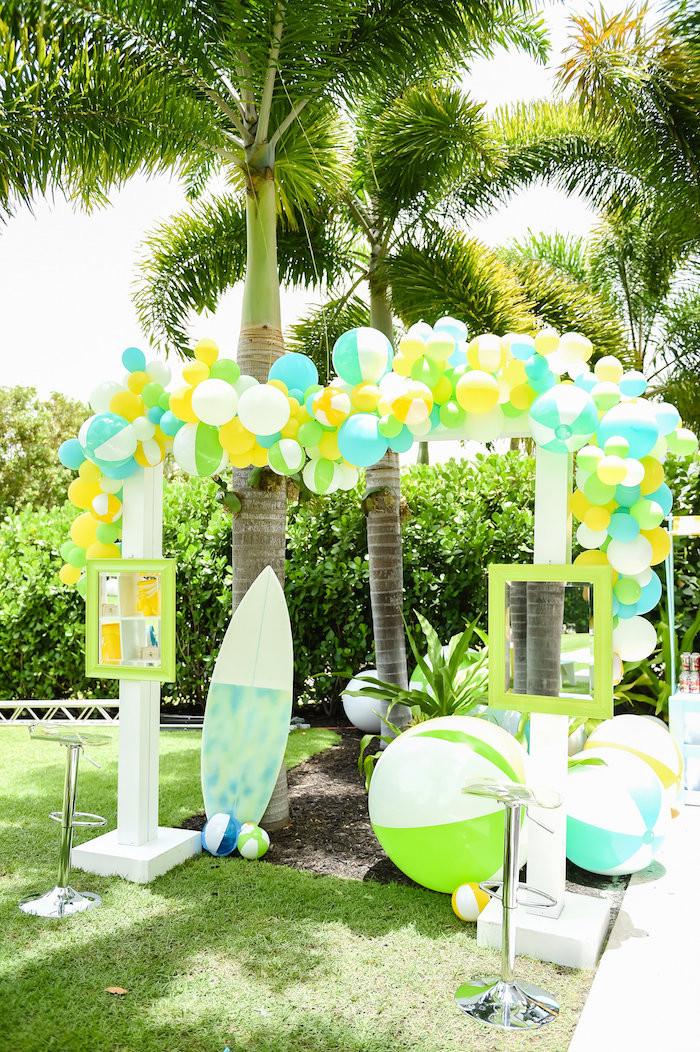 Party On The Beach Ideas  Kara s Party Ideas Surf s Up Beach Birthday Party