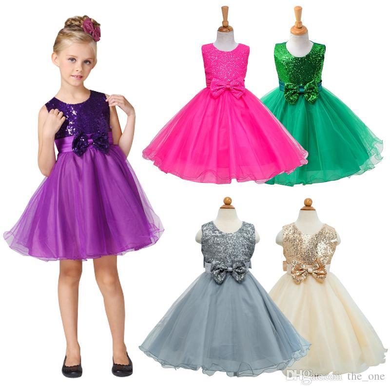 Party Wear For Kids  2019 Girls Party Wear Dress Kids 2016 New Sequins Children
