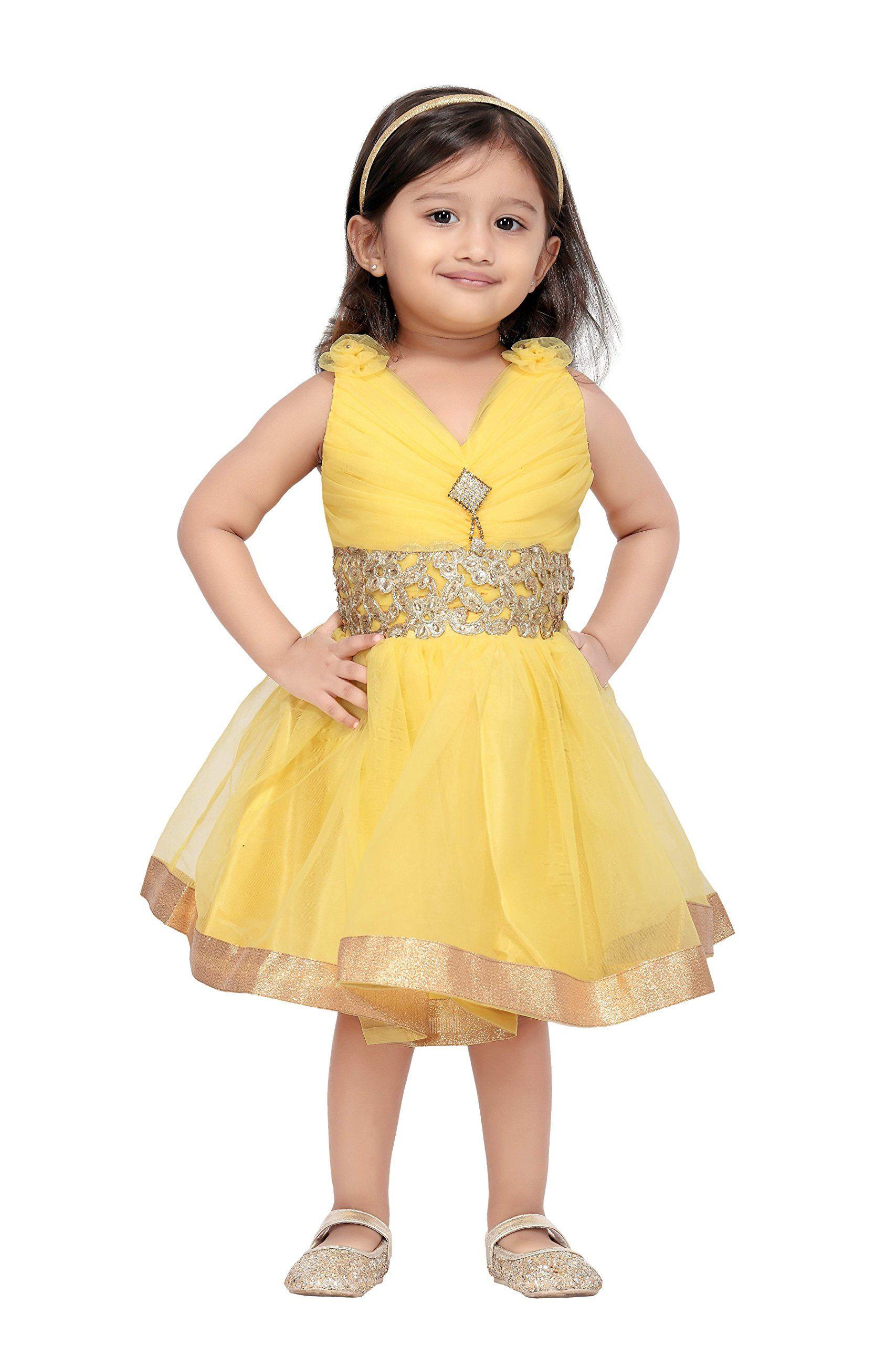 Party Wear For Kids  Aarika Baby Girls Party Wear Frock Amazon Clothing