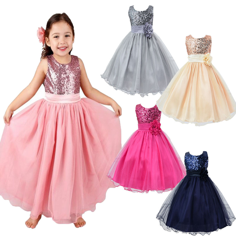 Party Wear For Kids  2016 New Summer Wedding Party Girls Dress Princess Baby