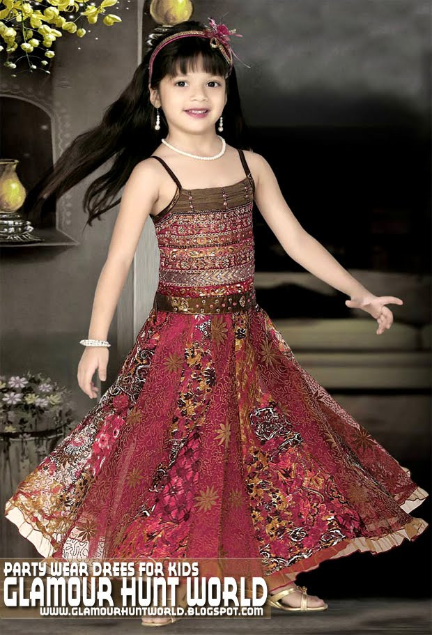 Party Wear For Kids  Female Kids Dresses Collection 2010 11