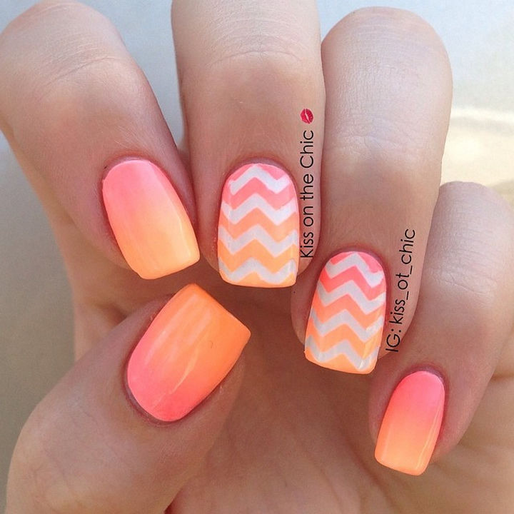Peach Nail Designs  19 Gorgeous Ombre Nails That Bring Gra nts to a Whole