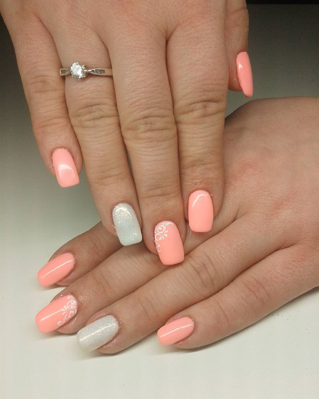 Peach Nail Designs  21 Peach Nail Art Designs Ideas