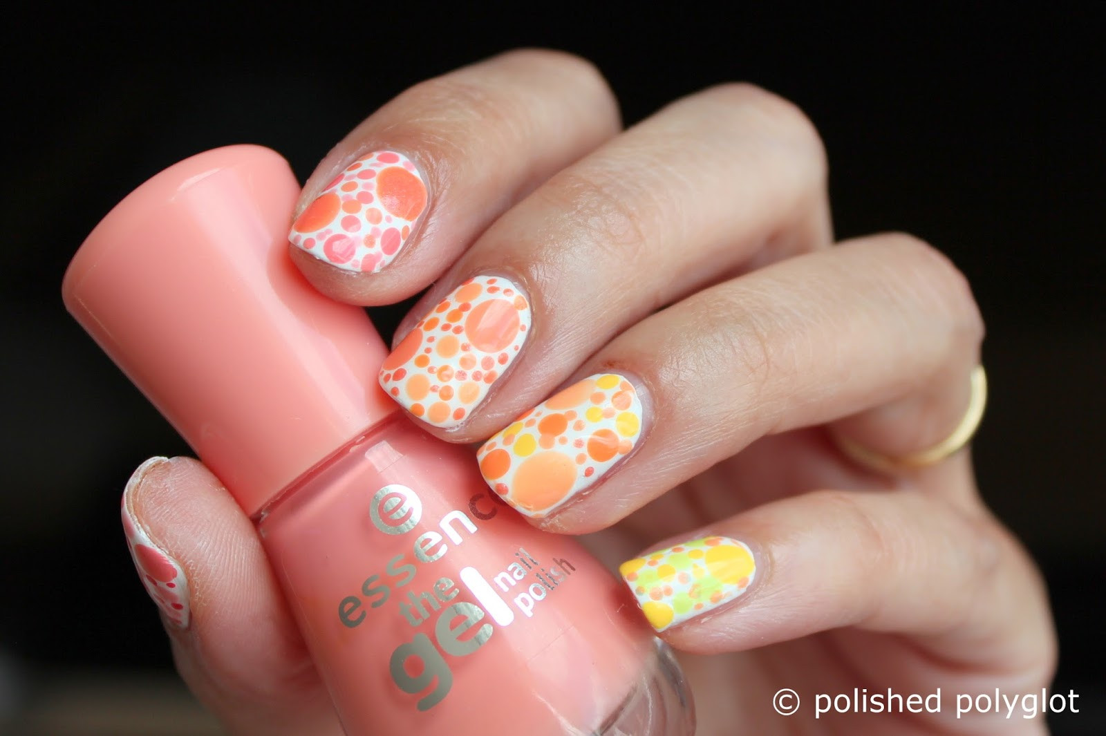 Peach Nail Designs  Nail art │Designs for short nails Peach or lemon skittles