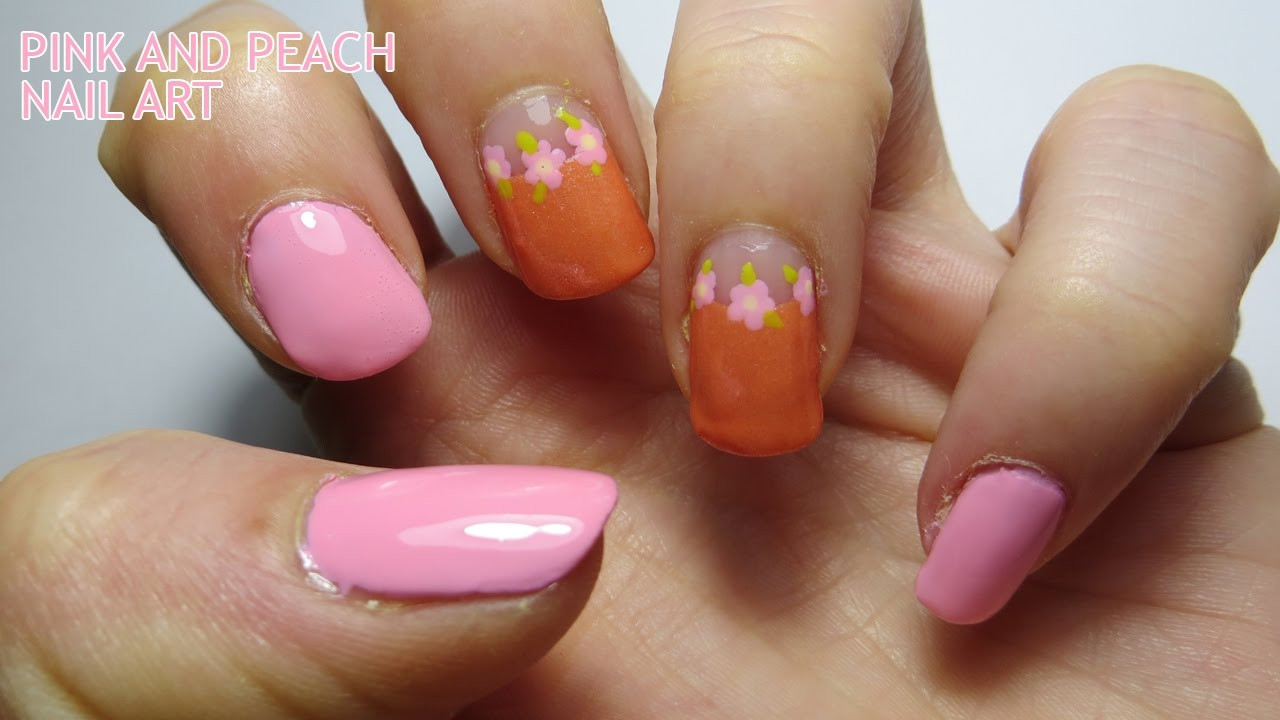 Peach Nail Designs  Pink and Peach Nail Art