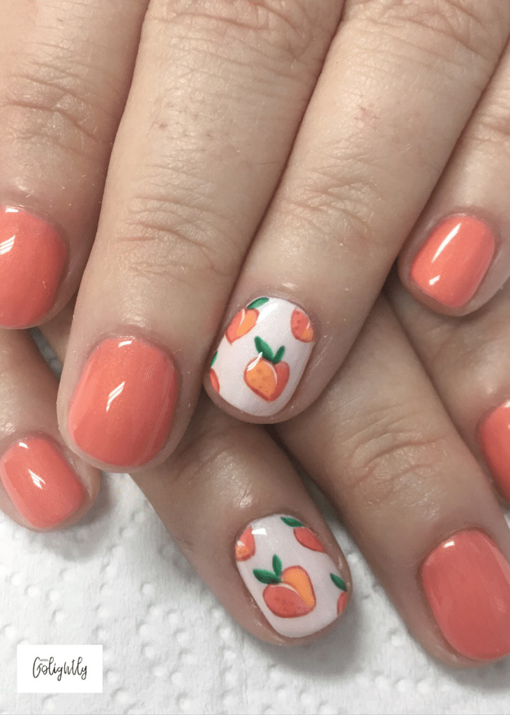 Peach Nail Designs  20 January Nails for 2019 April Golightly