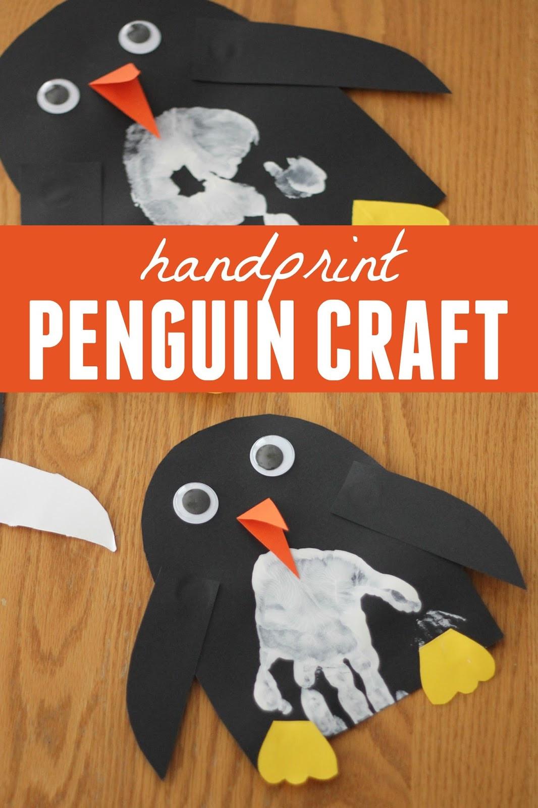 Penguin Craft For Preschoolers  Toddler Approved Handprint Penguin Craft