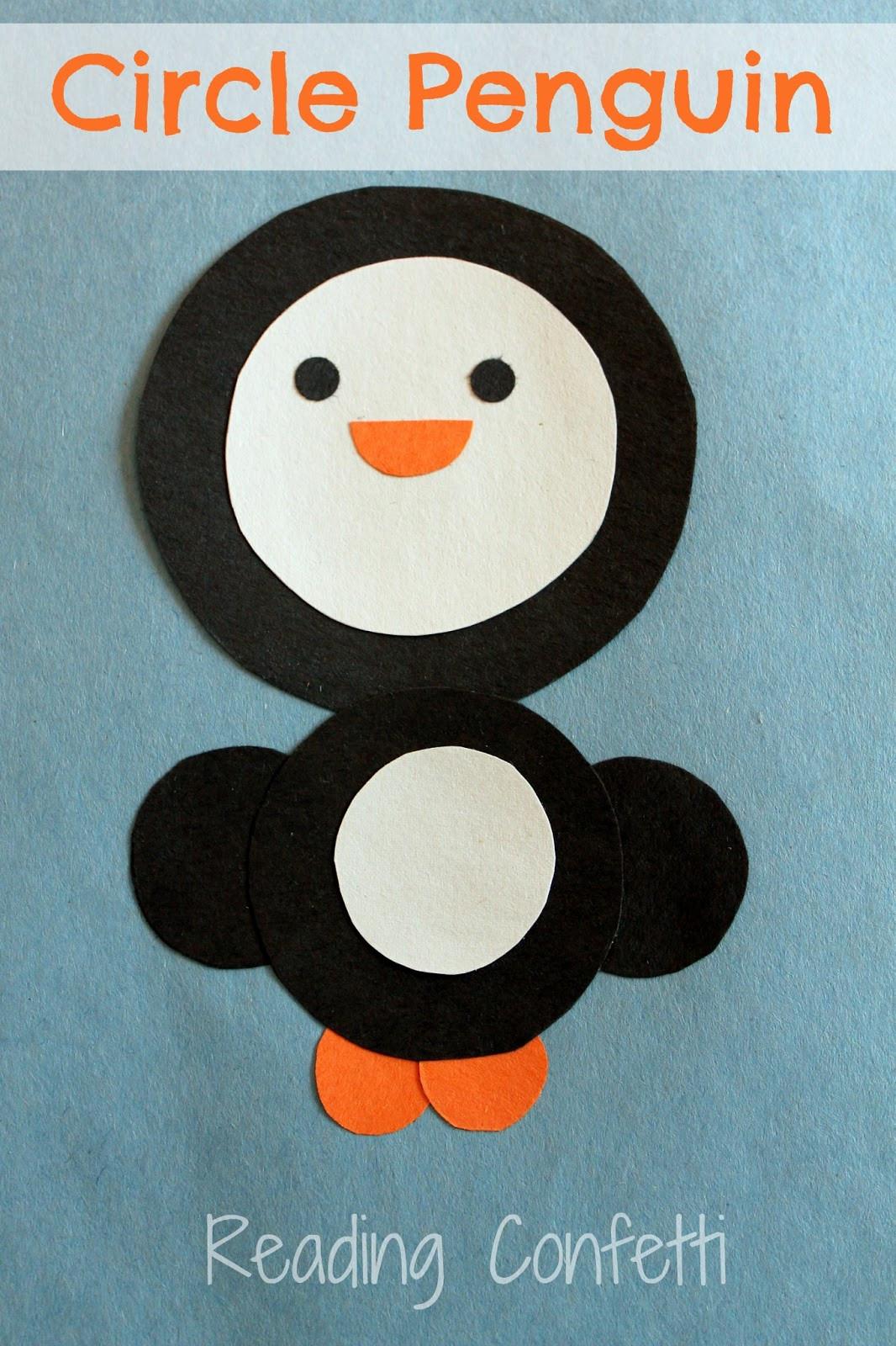 Penguin Craft For Preschoolers  Circle Penguin Craft Reading Confetti
