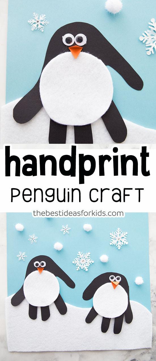 Penguin Craft For Preschoolers  Handprint Penguin The Best Ideas for Kids