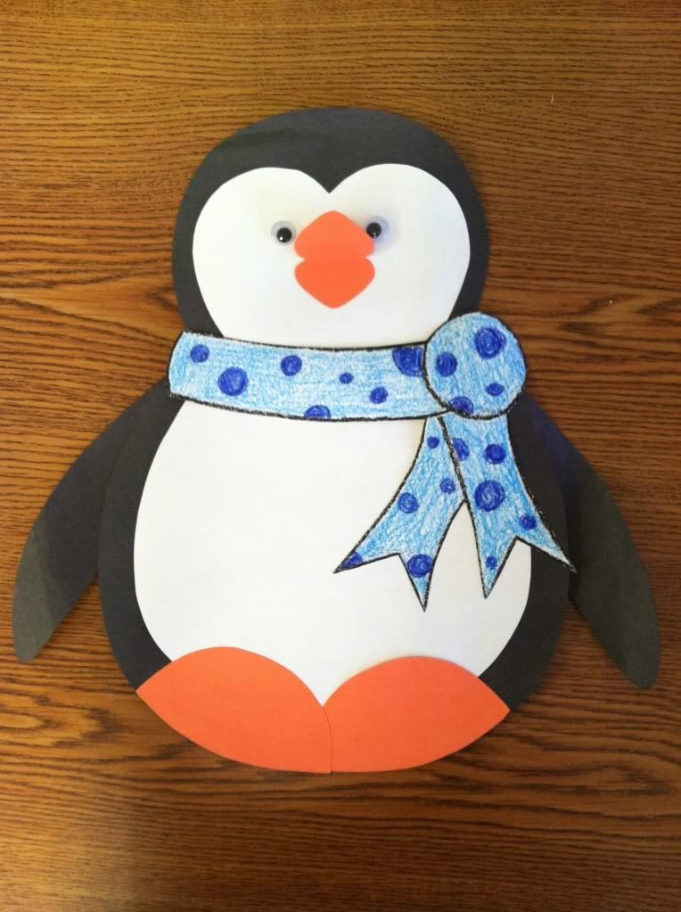 Penguin Craft For Preschoolers  Jump into January A Cupcake for the Teacher