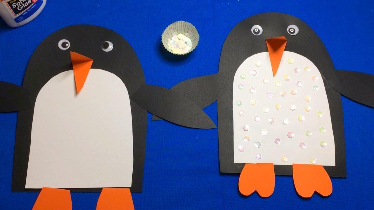 Penguin Craft For Preschoolers  Sequin Penguin Preschool Craft For Fine Motor Skills