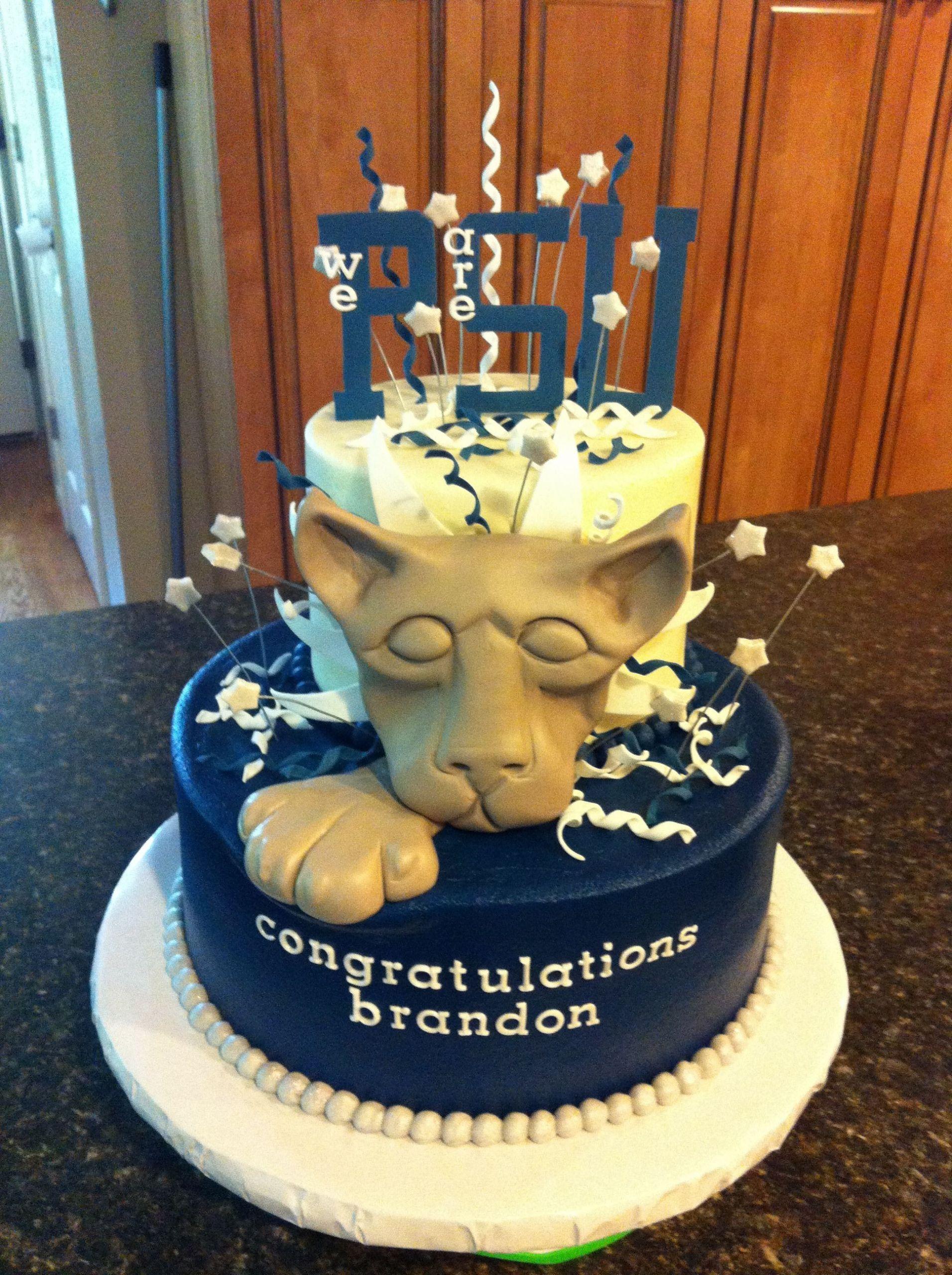 Penn State Graduation Gift Ideas  f to penn state graduation cake
