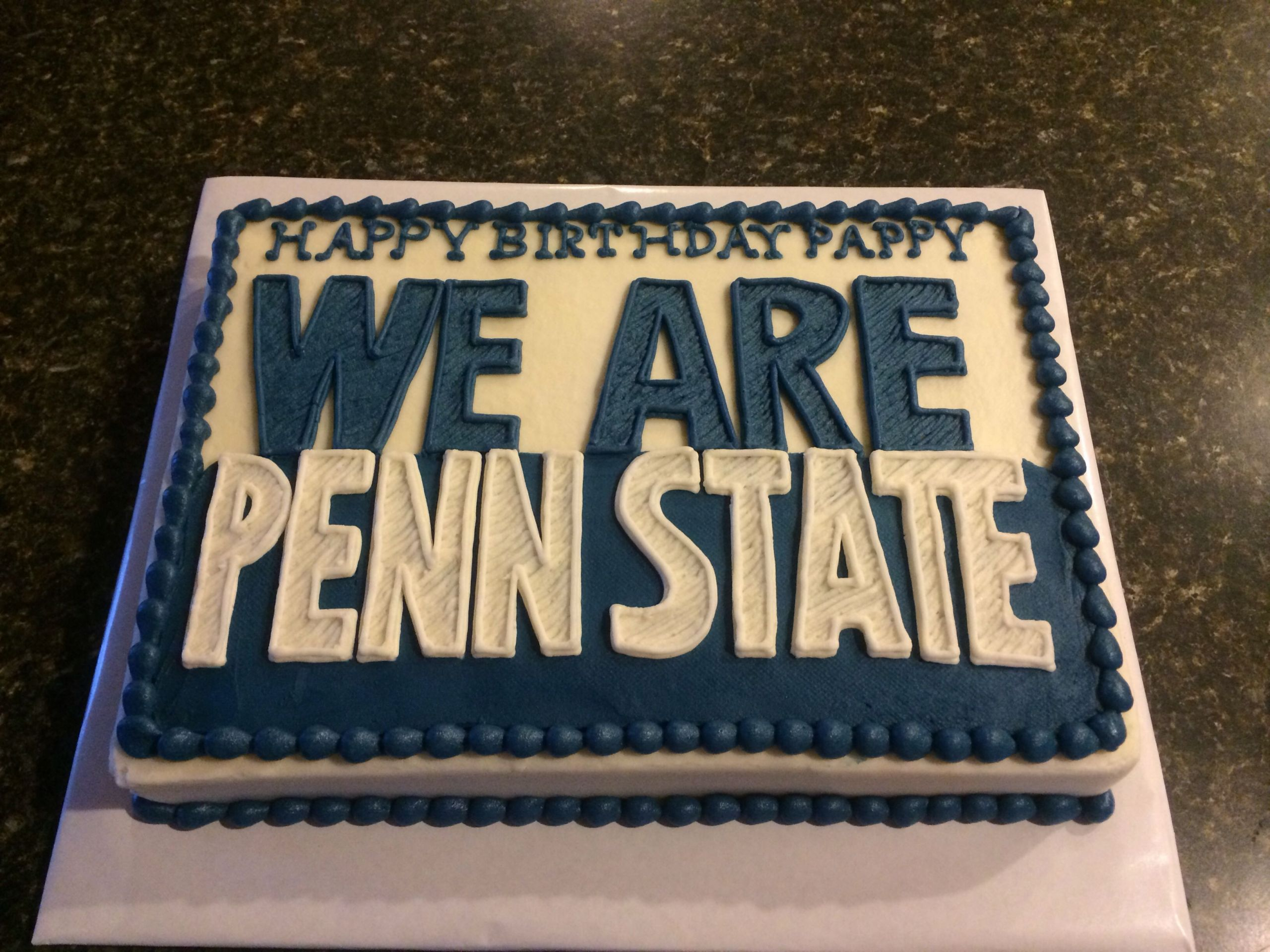 Penn State Graduation Gift Ideas  Penn state sheet cake With images