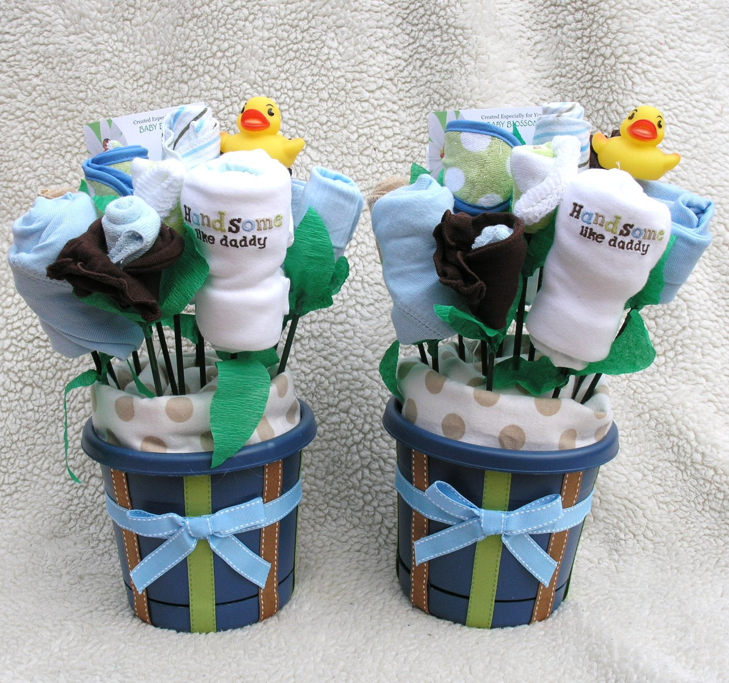Personalized Baby Boy Gifts  Baby Bouquets for Twin Boys Unique Gift Baby by babyblossomco