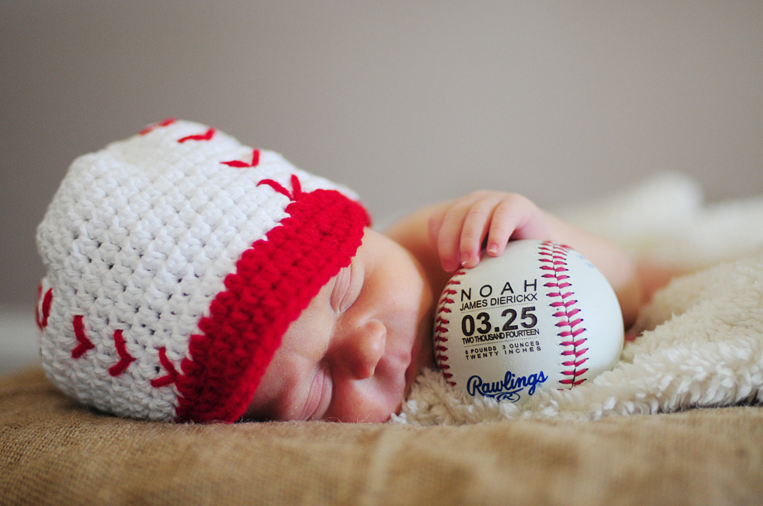 Personalized Baby Boy Gifts  Personalized Baseball Birth Announcement Baby Boys Gift