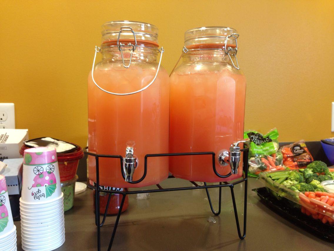 Pink Lemonade Punch Recipes For Baby Shower  Baby Girl Shower Punch bine 1 liter of Sprite 48 oz