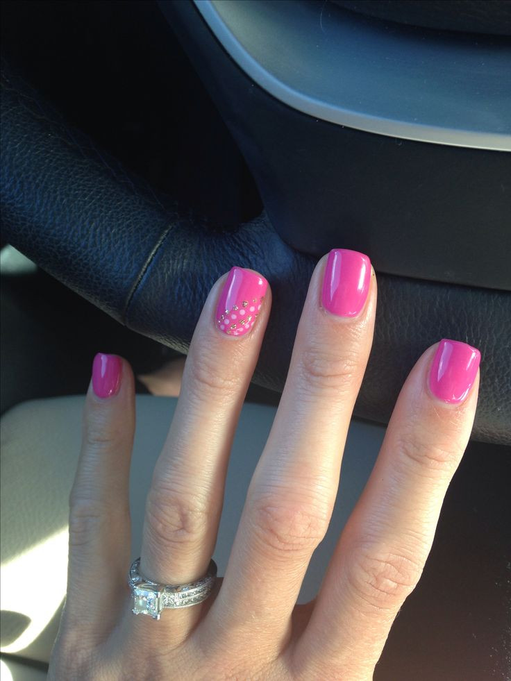 Pink Shellac Nail Designs  Hot Trendy Nail Art Designs that You Will Love