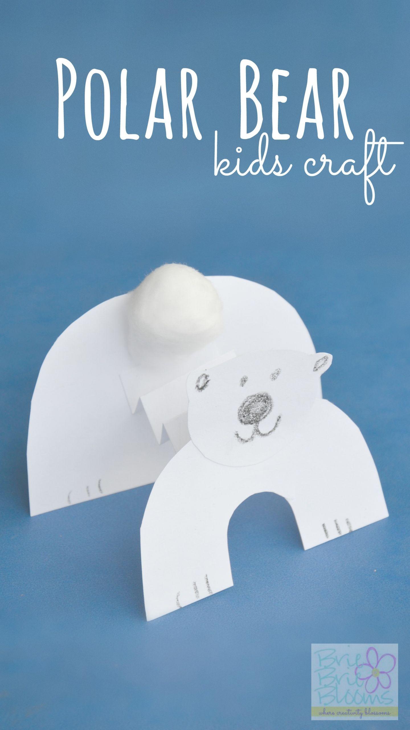 Polar Bear Crafts For Kids  Polar Bear kids craft to celebrate International Polar