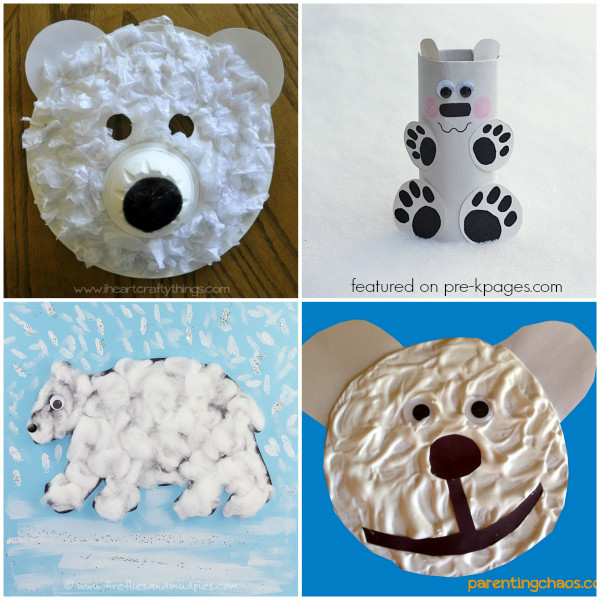 Polar Bear Crafts For Kids  Polar Bear Activities for Kids Pre K Pages