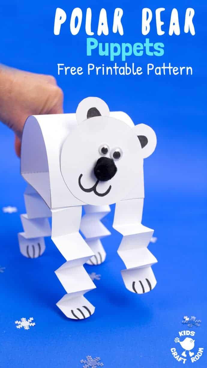 Polar Bear Crafts For Kids  Polar Bear Puppet Craft Kids Craft Room