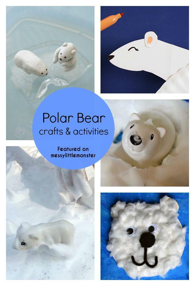 Polar Bear Crafts For Kids  35 Bear Theme Crafts & Activities Messy Little Monster