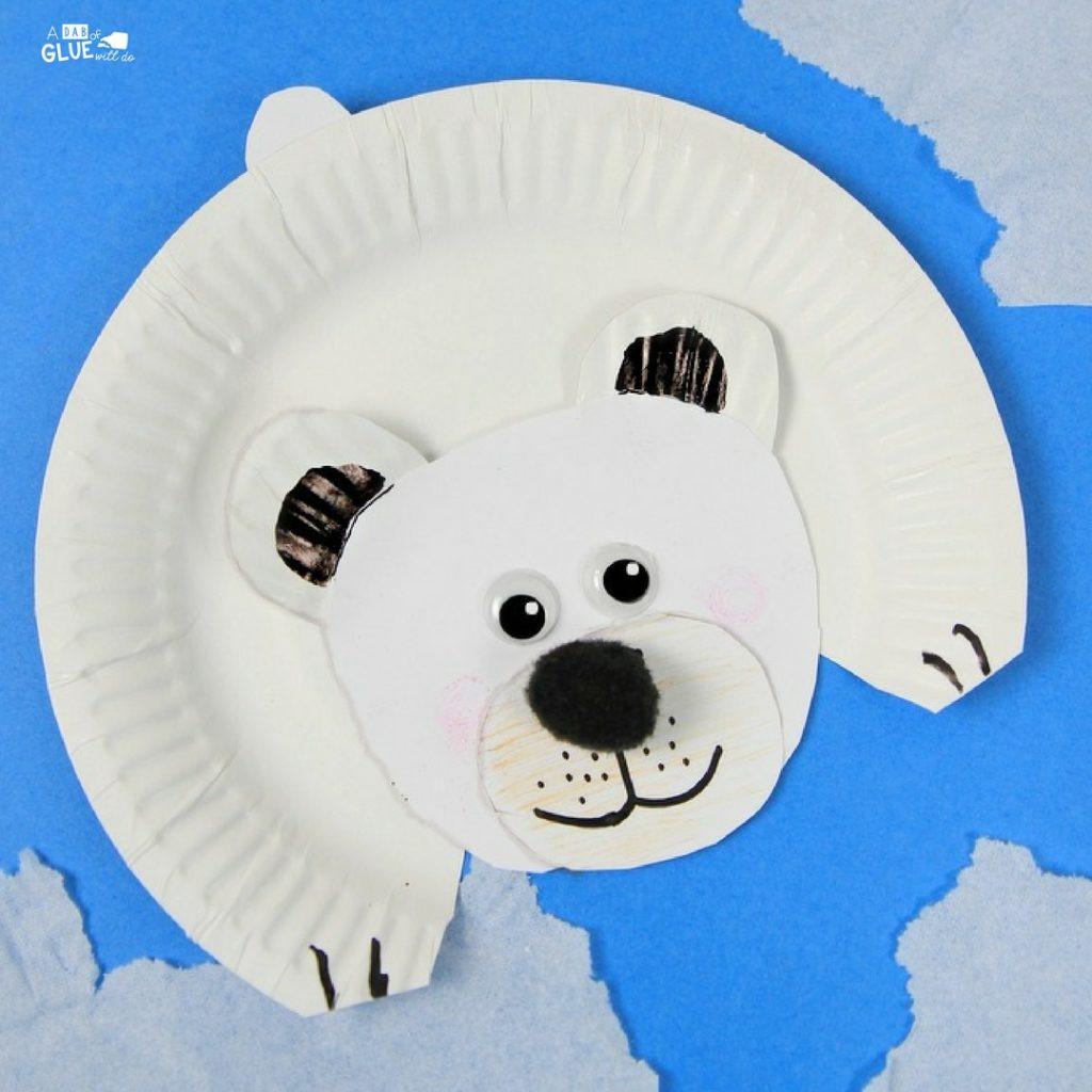 Polar Bear Crafts For Kids  Arctic Animals for Kids Polar Bear Craft