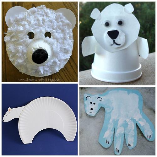 Polar Bear Crafts For Kids  Winter Polar Bear Crafts for Kids to Make Crafty Morning